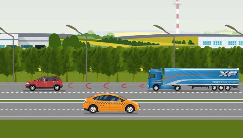 Animatie video DAF Adaptive Cruise control